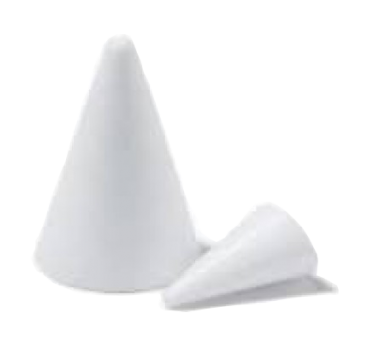 Polystyrene standard cone in variety of sizes