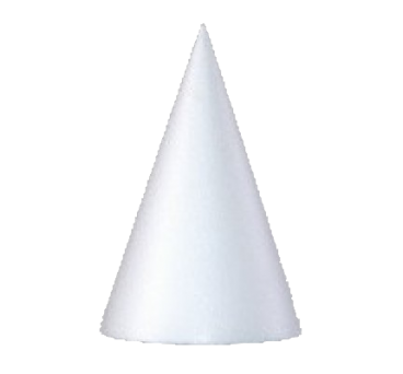 Polystyrene handmade cone in variety of sizes