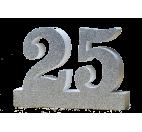 Numero 25 per Nozze d'Argento
