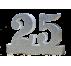 Número 25 para boda de plata