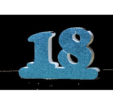 Número 18 para cumpleaños