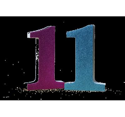 Numero 1 in polistirolo glitter azzurri o fucsia in varie - Colore per numero stampabili ...