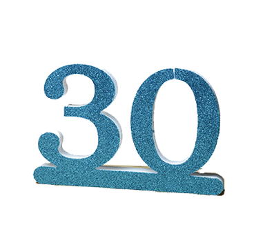 Number 30 for 30th Birthday