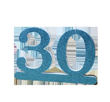Número 30 para cumpleaños