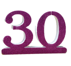 Number 30 for 30th Birthday fucsia