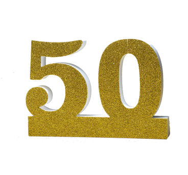 Number 50 for Golden Wedding