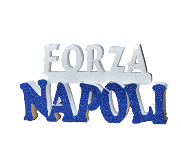 Polystyrene Forza Napoli inscription