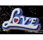 Letrero Love en cursiva
