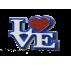 Letrero Love en mayúsculas