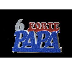 Scritta Sei Forte Papà blu