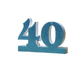 Number 40 for 40th Birthday Blue