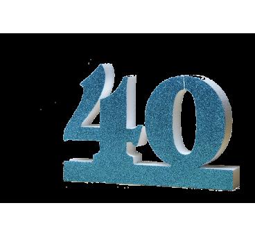 Número 40 para cumpleaños