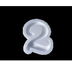 Forma hueca Número 2 en poliestireno