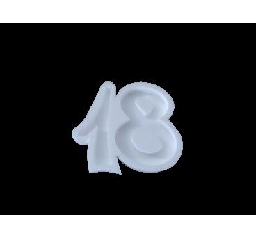 Forma hueca Número 18 en poliestireno