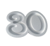 Forma hueca Número 30 en poliestireno