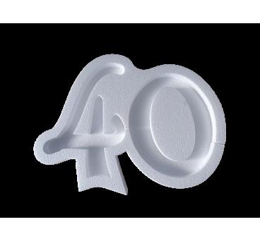 Forma hueca Número 40 en poliestireno