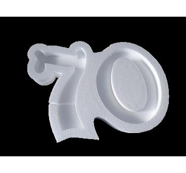 Forma hueca Número 70 en poliestireno