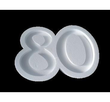 Forma hueca Número 80 en poliestireno