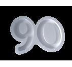 Forma hueca Número 90 en poliestireno