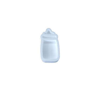 Forma hueca biberón en poliestireno