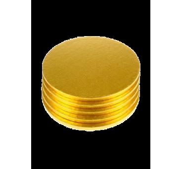 Base para tarta redonda dorada de 1cm