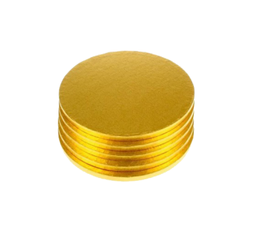 Gold Circular Cake Boards of 0,4 inches