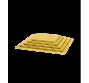 Base para tarta cuadrada dorada de 1cm