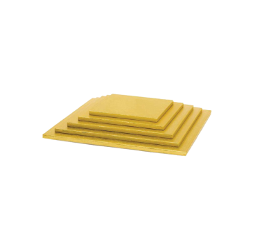 Gold square cake board of 0,4 inches