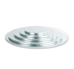 Silver Circular Cake Boards of 0,4 inches