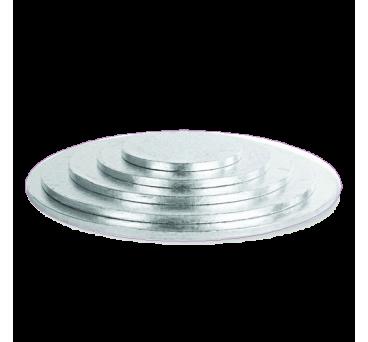 Silver Circular Cake Boards