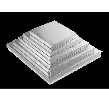 Sottotorta Quadrato Argento da 1cm