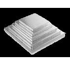 Silver Square Cake Boards of 0,4 inches