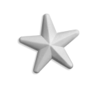Stella 3D in polistirolo