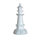 Polystyrene Lighthouse on Rock