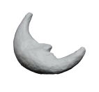 Luna piatta in polistirolo