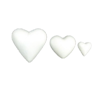 Polystyrene heart in variety of sizes