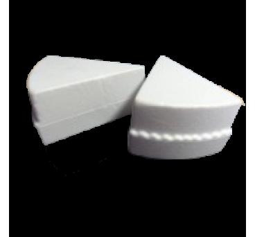 Rebanada de pastel en poliestireno