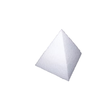 Pyramid in polystyrene in variety of sizes
