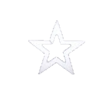Perforated Star in polystyrene in variety of sizes
