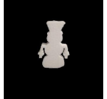 Muñeco de nieve en poliestireno