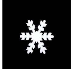 Fiocco di neve in polistirolo