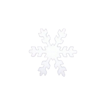 Snowflake in polystyrene in variety of sizes