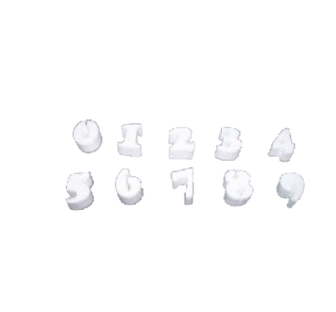 Polystyrene Numbers from 0 to 9