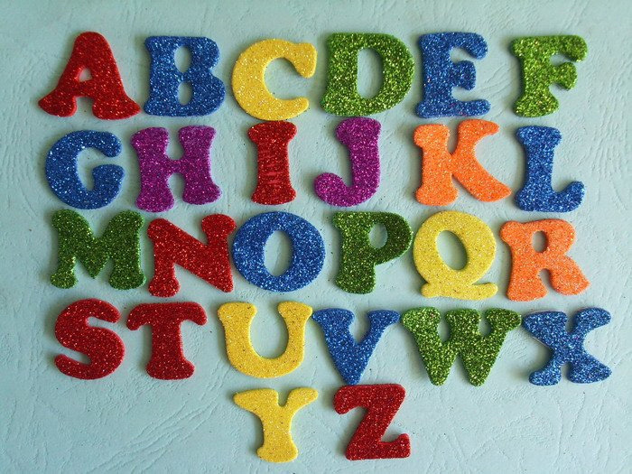 Polystyrene Alphabet to decorate
