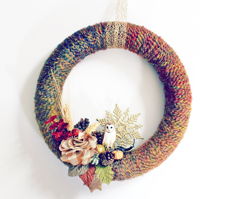 Polystyrene wreath for DIY