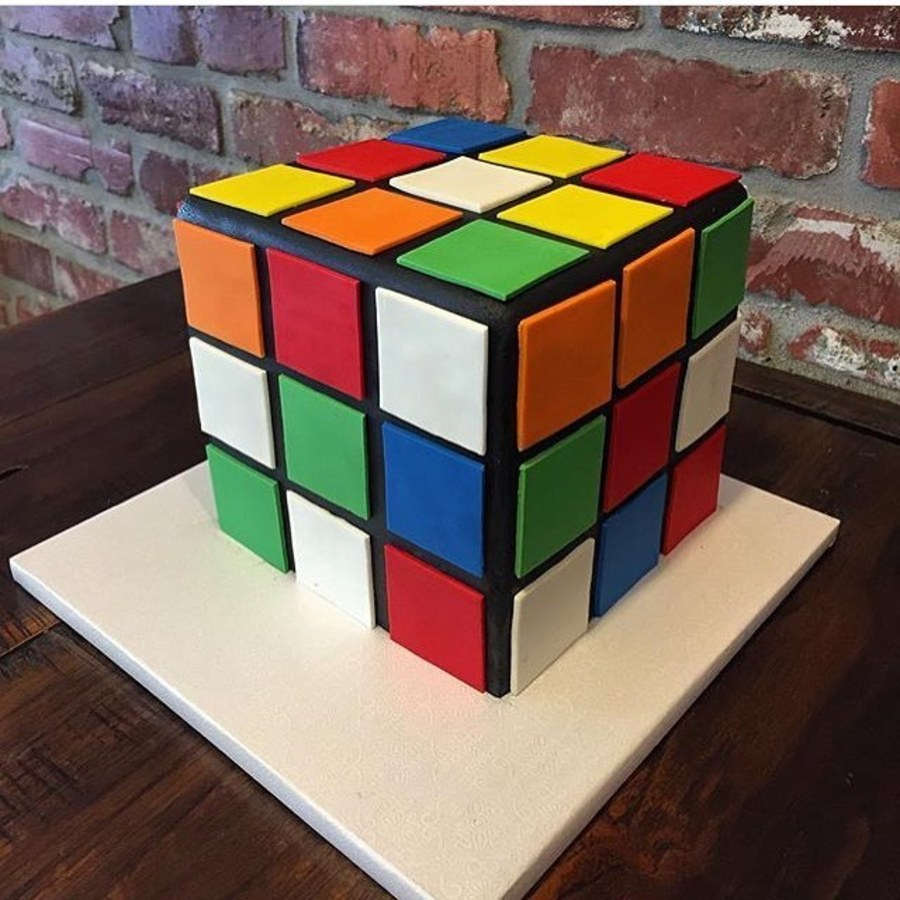 Cube support for flat cake