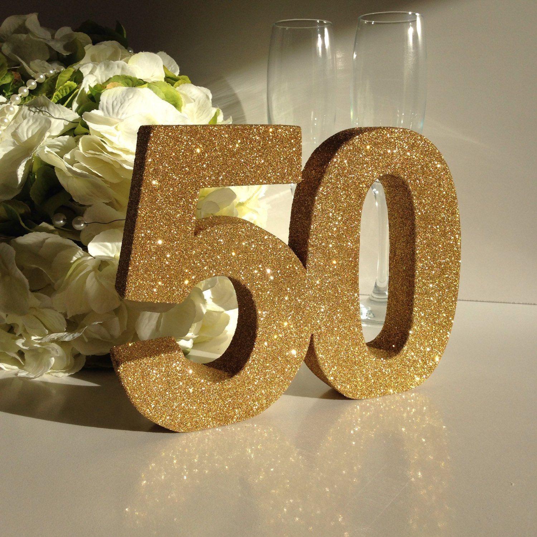 Numero 50 In Polistirolo Per Nozze D Oro In Varie Misure